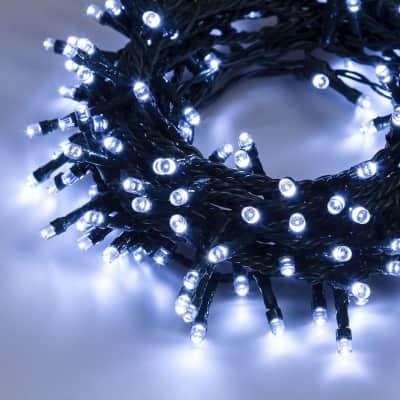 Catena luminosa 300 lampadine LED bianco 200 cm