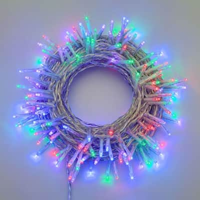 Catena luminosa 180 lampadine LED multicolore 400 cm