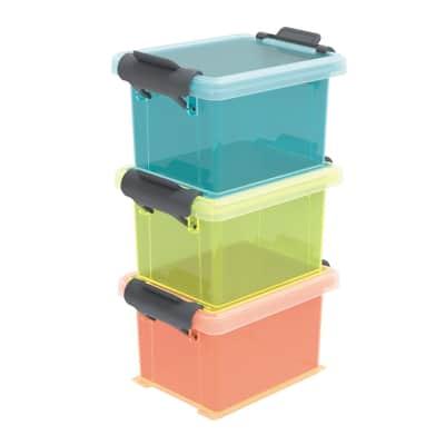Scatola L 6.5 x P 8.7 x H 15.5 cm blu/giallo/arancio