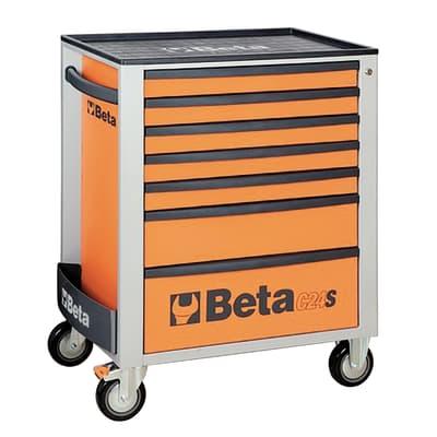 Carrello per officina in plastica 1 ruota 2 cassetti , L 77 x H 57 cm