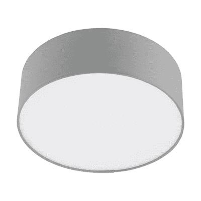 Plafoniera moderno Sitia grigio, in tessuto,  D. 29 cm 29 cm, INSPIRE