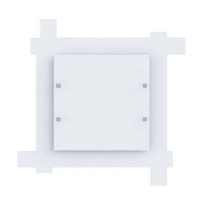 Plafoniera moderno Leone bianco, in vetro, 50x50 cm, 4  luci LUMICOM