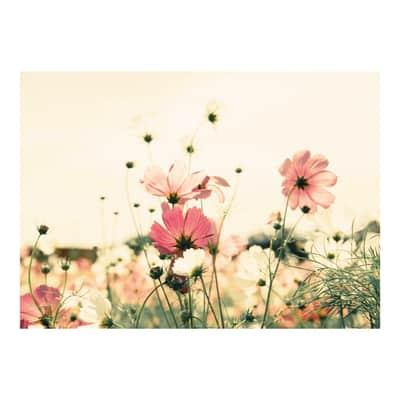 Quadro su tela Campo di fiori 100x140 cm
