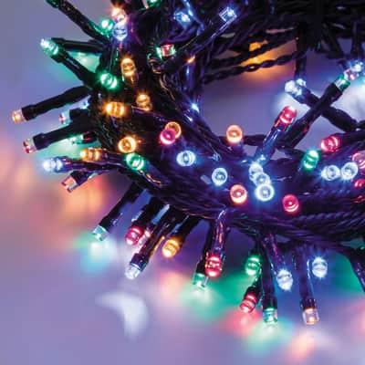 Catena luminosa 300 lampadine LED multicolore 1250 cm