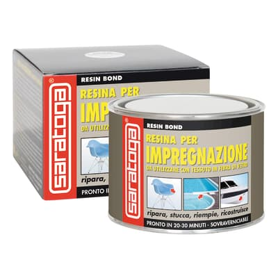 Stucco di riparazione metallo SARATOGA Resin Bond resina per impregnazione 500 ml