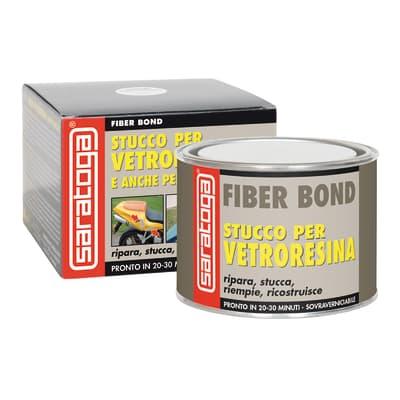 Stucco di riparazione plastica e vetroresina SARATOGA Fiber Bond per vetroresina 500 ml