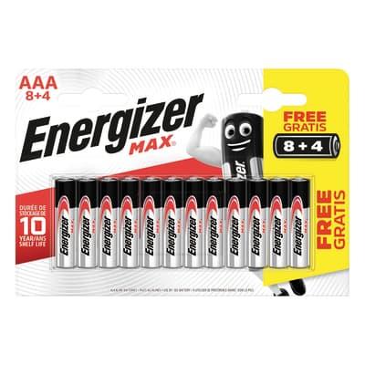 Pila alcalina AAA ENERGIZER 12 batterie