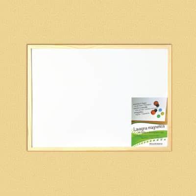 Lavagna magnetica cancellabile Cornice legno naturale 45x30 cm