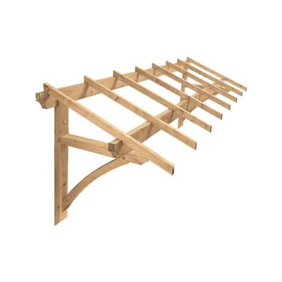 Tettoia Firenze in legno L 325 x P 113 cm struttura Legno
