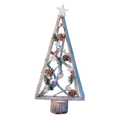 Albero di Natale in legno H 53 cm, L 24.5 cm