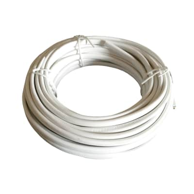 Cavo elettrico h05vv-f LEXMAN H05VV-F 2 fili x 1 mm² Matassa 25 m bianco