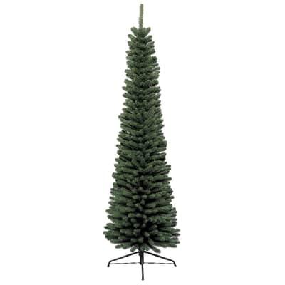 Albero Di Natale Slim 240.Albero Di Natale Artificiale Slim Verde H 150 Cm Prezzo Online Leroy Merlin