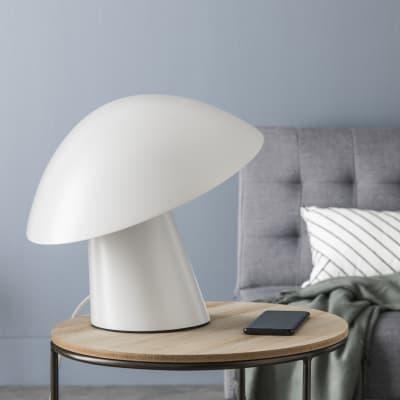Lampada da tavolo Design Amanite bianco , in metallo, INSPIRE