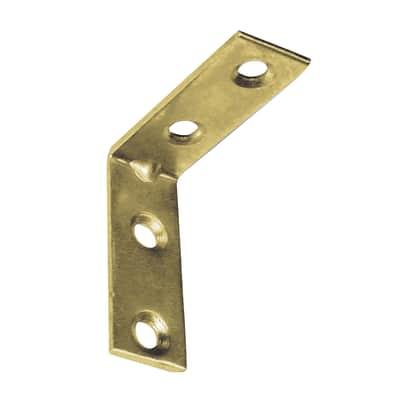 Piastra angolare STANDERS in acciaio zincato L 15 x Sp 1.8 x H 40 mm  4 pezzi