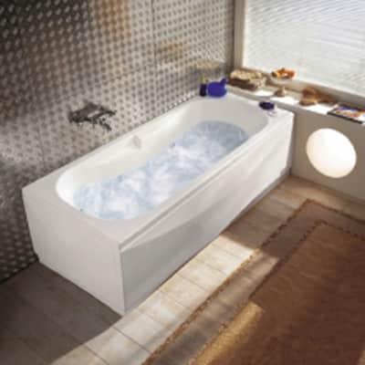 Vasca idromassaggio rettangolare Egeria bianco 170 x 80 cm 6 bocchette