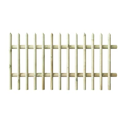 Recinzione dritta in legno L 180 x H 100 x P 5.7 cm