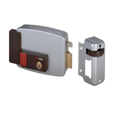 Serratura a vista a punto singolo Elettroserratura da applicare per cancello o rete entrata 5 cm