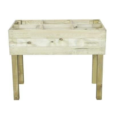 Fioriera per orto in legno L 100 x P 50 x H 80 cm