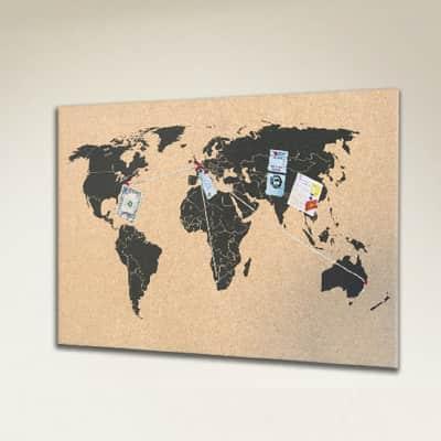 Bacheca in sughero World multicolor 60x40 cm