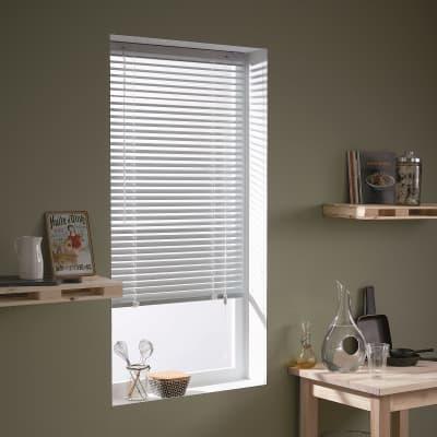 Veneziana INSPIRE Los Angeles in alluminio, bianco, 40x175 cm