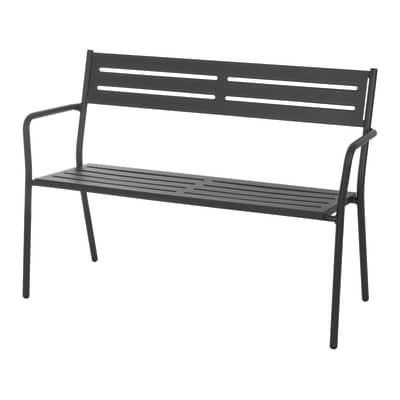 Panchina TREVI in acciaio colore grigio antracite 2 posti