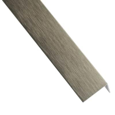 Profilo a l STANDERS in alluminio 1 m x 1.6 cm titanio
