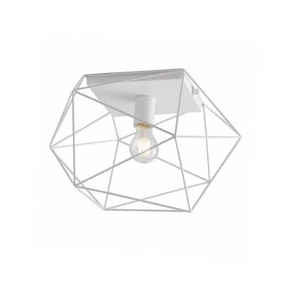 Plafoniera Abraxas bianco, in metallo, 30x41 cm, E27 MAX40W IP20