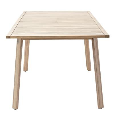 Tavolo da giardino allungabile  rettangolare Solis NATERIAL con piano in legno L 150 x P 90 cm