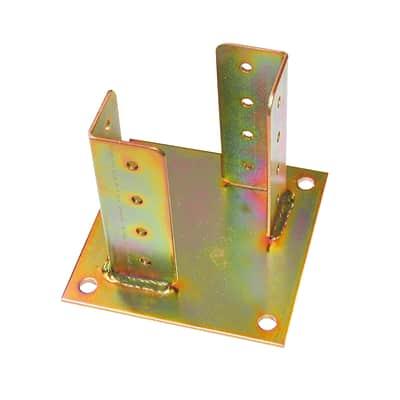Supporto per palo   in acciaio L 15x H 13