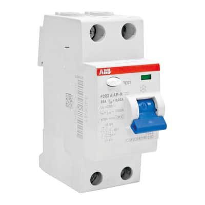 Interruttore magnetotermico differenziale ABB F202 A-25 / 0,03 AP-R 2 poli 25A 30mA A 2 moduli 230V