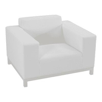 Poltrona in alluminio colore bianco