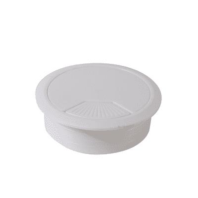 Copri passa-cavo in plastica bianco Ø 80 mm