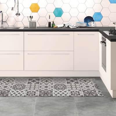 Passatoia Relax ceramic , grigio medio, 50x180