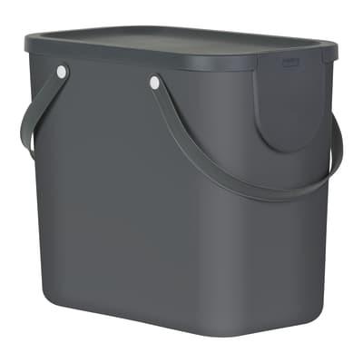 Pattumiera per raccolta differenziata manuale argento 25 L