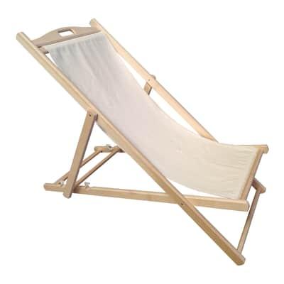 Sedia a sdraio in legno di faggio colore naturale prezzi e for Sdraio leroy merlin prezzi