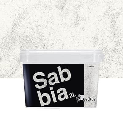 Pittura decorativa GECKOS Sabbia 2 l bianco effetto sabbiato