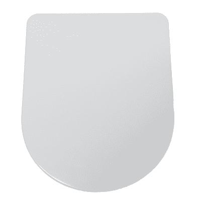 Copriwater ovale Dedicato per serie sanitari Flo 48 termoindurente bianco