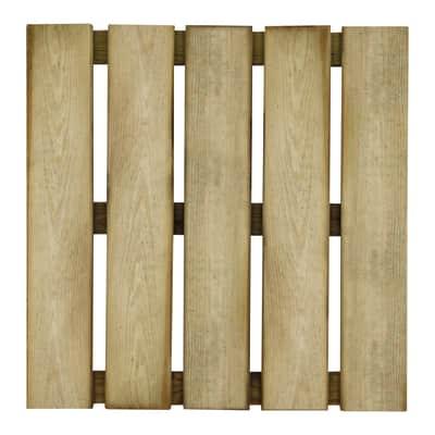 Piastrella in legno pino 50 x 50 cm  Sp 38 mm,  marrone