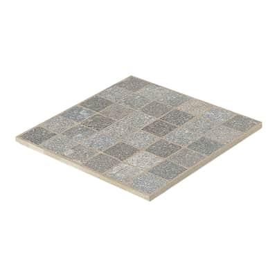 Gres porcellanato cubetti porfido grigio resistente al freddo 60 x 60 cm multicolore  0.72 mq