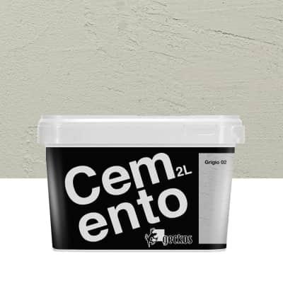 Pittura decorativa GECKOS Cemento 2 l grigio 2 effetto cemento