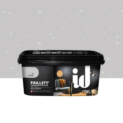 Pittura decorativa LES DECORATIVES Paillett 2 l grigio polar effetto paillette