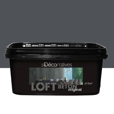 Pittura ad effetto decorativo ID Loft Original 2 l nero berlino effetto cemento