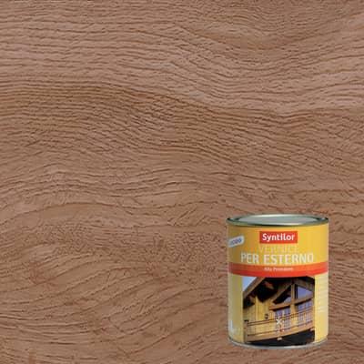 Vernice per legno da esterno liquido SYNTILOR 1 L noce medio lucido
