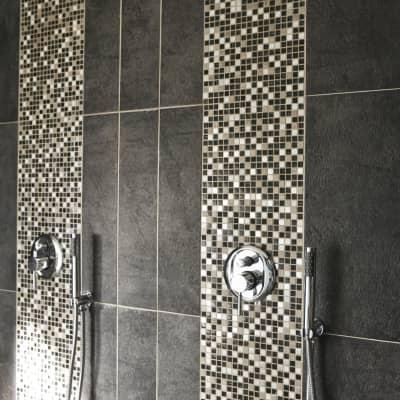 Mosaico Fusion Lods H 30 x L 30 cm grigio/argento
