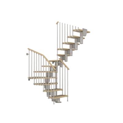 Scala a rampa 2/4 girevole Long in acciaio cromato