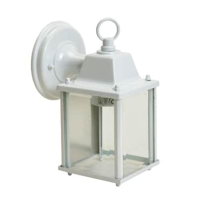 Applique Sanboi in alluminio + vetro, bianco, E27 MAX60W IP43 INSPIRE