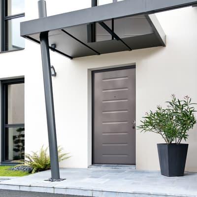 Porta blindata Silver grigio L 90 x H 210 cm sinistra