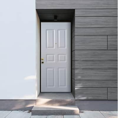 Porta blindata Steel bianco L 90 x H 210 cm destra