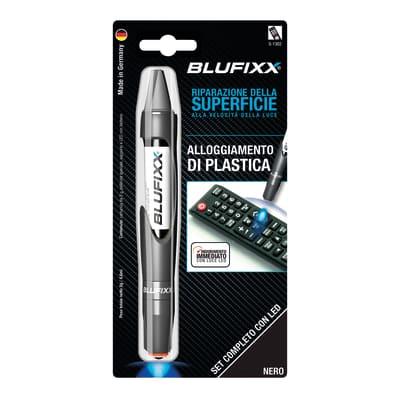 Colla in cianoacrilato plastica BLUFIXX BLUFIXX 10 Blister contenente penne con luce a led
