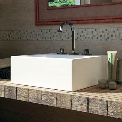 Mosaico Travertino15 H 30.5 x L 30.5 cm marrone/beige